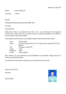 99 Contoh Surat Lamaran Kerja Yang Baik dan Benar Download ...