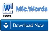 download format words